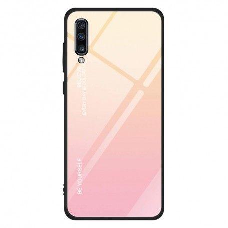 Husa Samsung Galaxy A70 - Gradient Glass, Galben cu Roz la pret imbatabile de 39,99lei , intra pe PrimeShop.ro.ro si convinge-te singur