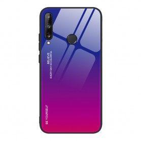 Husa Huawei P40 Lite E / Huawei Y7p - Gradient Glass, Albastru cu Violet  - 1