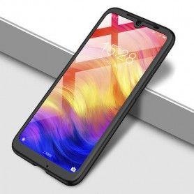 Husa 360 Protectie Totala Fata Spate pentru Huawei P20 Lite (2019) , Neagra  - 1