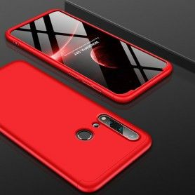 Husa 360 Protectie Totala Fata Spate pentru Huawei P20 Lite (2019) , Rosie  - 1