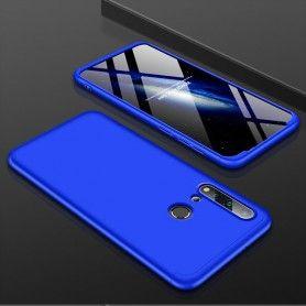 Husa 360 Protectie Totala Fata Spate pentru Huawei P20 Lite (2019) , Light Blue  - 1