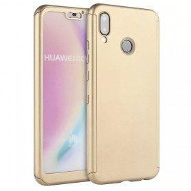 Husa 360 Protectie Totala Fata Spate pentru Huawei P20 Lite , Aurie  - 1