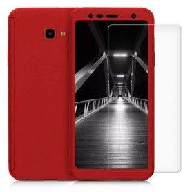 Husa 360 Protectie Totala Fata Spate pentru Samsung Galaxy J4+ Plus (2018) , Rosie  - 1