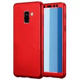 Husa 360 Protectie Totala Fata Spate pentru Samsung Galaxy J6+ Plus (2018) , Rosie  - 1