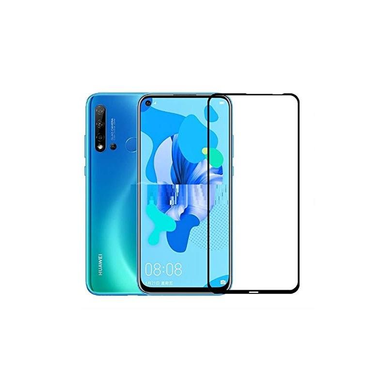 Folie Protectie Ecran pentru Huawei P20 Lite (2019), Sticla securizata, 3D 0.33mm, Negru