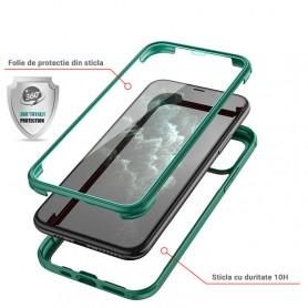 Husa iPhone 11 - Protectie 360 grade Prime cu Sticla fata + spate  - 11