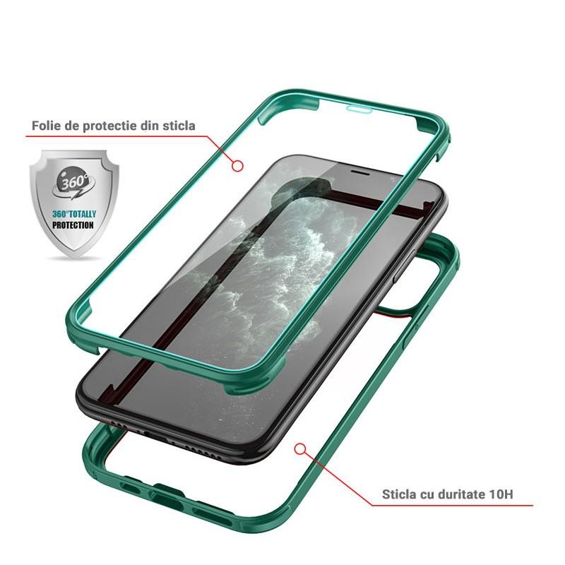 Husa iPhone 11 - Protectie 360 grade Prime cu Sticla fata + spate - 3