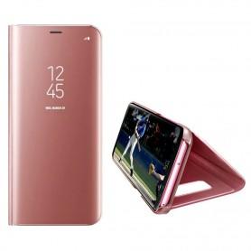 Husa Telefon Huawei P30 Lite Flip Mirror Stand Clear View  - 5