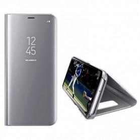 Husa Telefon Huawei Nova 5T - Flip Mirror Stand Clear View  - 2