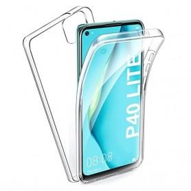 Husa Huawei P40 Lite E - Silicon Tpu Full 360 ( Fata+Spate) , transparenta  - 1