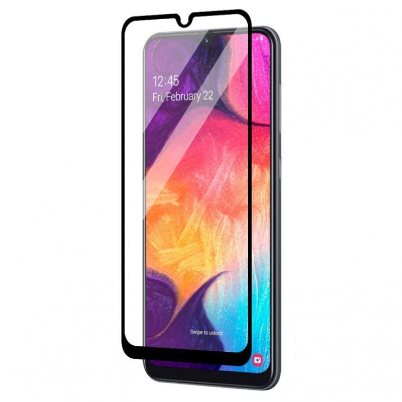 Folie Protectie Ecran pentru Samsung Galaxy A10, Sticla securizata, Negru  - 1