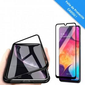 Set: Husa Samsung Galaxy A10 - Magnetica Neagra + Folie de protectie ecran Cadou  - 1
