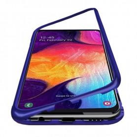 Husa Samsung Galaxy A51 -  Magnetica cu bumper din aluminiu si spate din sticla  - 3