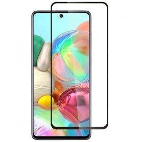 Folie Protectie Ecran pentru Samsung Galaxy A71, Sticla securizata, Negru  - 1