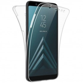 Husa Samsung Galaxy J6+ Plus (2018) - Silicon Tpu Full 360 ( Fata+Spate) , transparenta  - 1