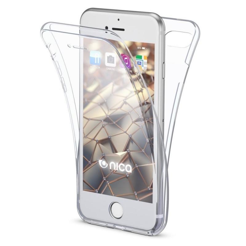 Husa iPhone 6 / 6s - Silicon Tpu Full 360 ( Fata+Spate) , transparenta  - 1