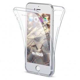 Husa iPhone 7 Plus / 8 Plus - Silicon Tpu Full 360 ( Fata+Spate) , transparenta  - 1
