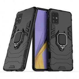 Husa Samsung Galaxy A71 - Armor Ring Hybrid, Neagra  - 1