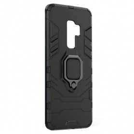 Husa Xiaomi Redmi Note 8 Pro - Armor Ring Hybrid, Neagra  - 1
