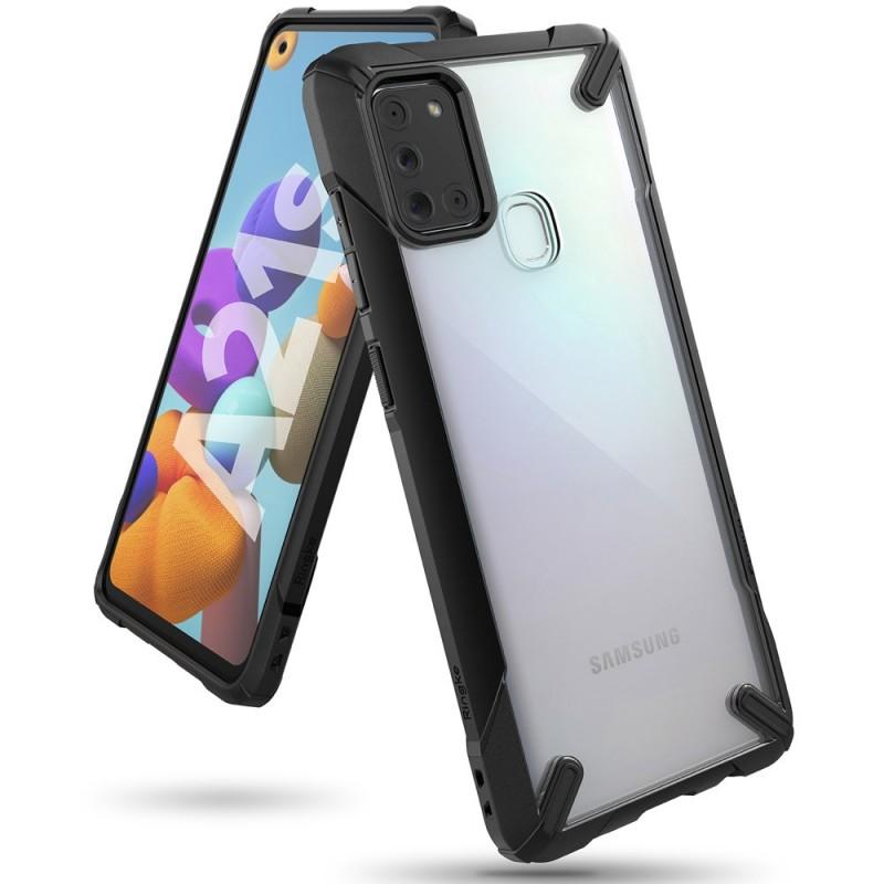 Husa Samsung Galaxy A21s - Ringke Fusion X, Neagra Ringke - 1