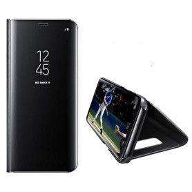 Husa Telefon Huawei P40 Lite - Flip Mirror Stand Clear View  - 1