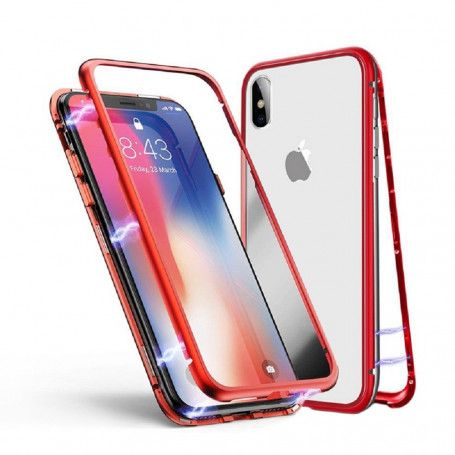 Husa Magnetica cu bumper din aluminiu si spate din sticla pentru iPhone XS Max la pret imbatabile de 54,90LEI , intra pe PrimeShop.ro.ro si convinge-te singur
