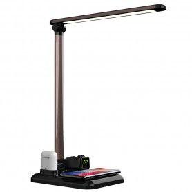 Lampa Led de birou 4 in 1 Apple Mate, cu functii de incarcare compatibila cu Apple Watch, Airpods, iPhone  - 1