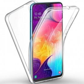 Husa Samsung Galaxy A51 - Silicon Tpu Full 360 ( Fata+Spate) , transparenta  - 1