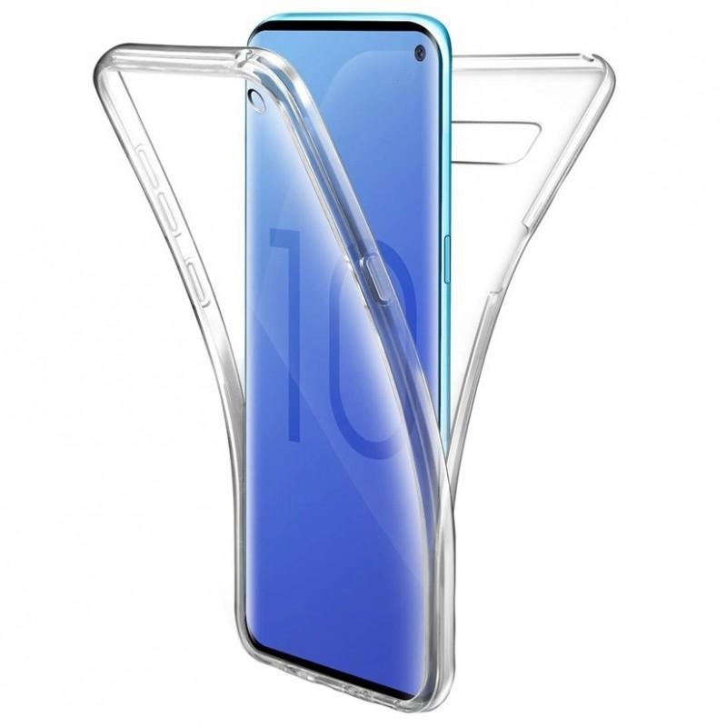 Husa Samsung Galaxy S10+ Plus - Silicon Tpu Full 360 ( Fata+Spate) , transparenta  - 1
