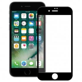 Folie Protectie Ecran pentru iPhone 7 / 8 / SE 2 (2020) - (4,7 inchi) , Sticla securizata, Neagra  - 1