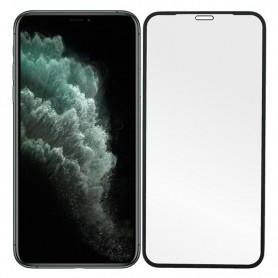 Folie Protectie Ecran pentru iPhone 11 / iPhone XR - (6,1 inchi) , Sticla securizata, Neagra  - 1