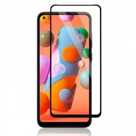 Folie Protectie Ecran pentru Samsung Galaxy A11 , Sticla securizata, Neagra  - 1