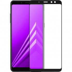 Folie Protectie Ecran pentru Samsung Galaxy A6+ Plus (2018) , Sticla securizata, Neagra  - 1
