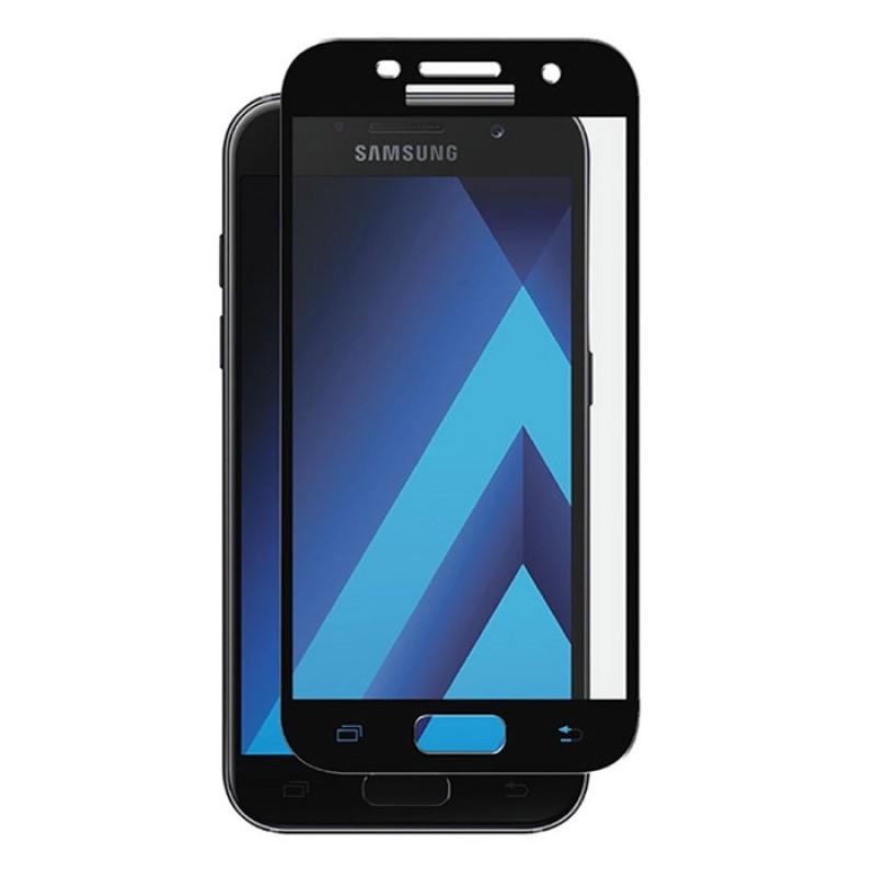 Folie Protectie Ecran pentru Samsung Galaxy A5 (2017) , Sticla securizata, Neagra  - 1
