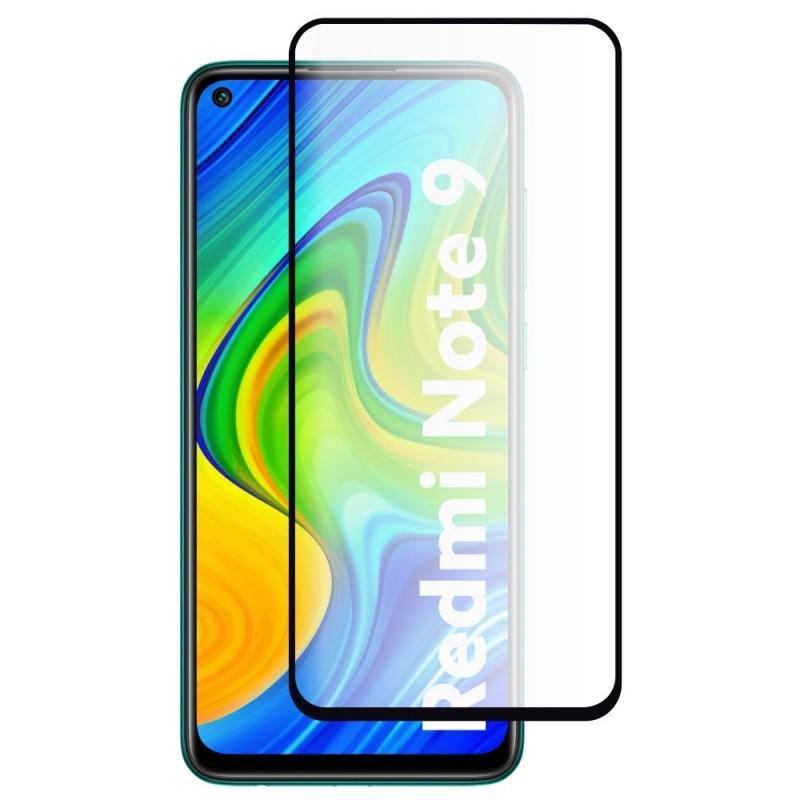 Folie Protectie Ecran pentru Xiaomi Redmi Note 9, Sticla securizata, Neagra