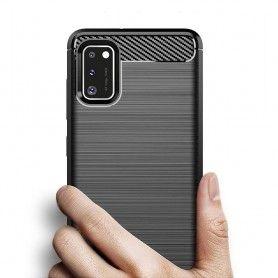 Husa Tpu Carbon Fibre pentru Samsung Galaxy S20, Neagra  - 3