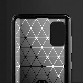 Husa Tpu Carbon Fibre pentru Samsung Galaxy S20, Neagra  - 4