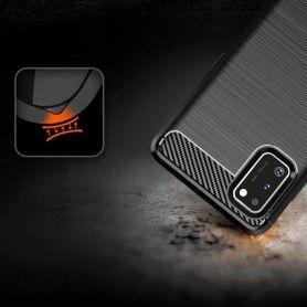 Husa Tpu Carbon Fibre pentru Samsung Galaxy S20, Neagra  - 5