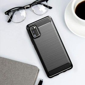 Husa Tpu Carbon Fibre pentru Samsung Galaxy S20, Neagra  - 6