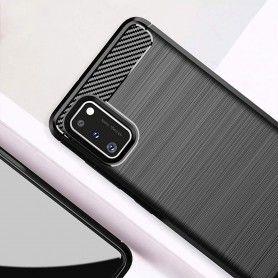 Husa Tpu Carbon Fibre pentru Samsung Galaxy S20, Neagra  - 7