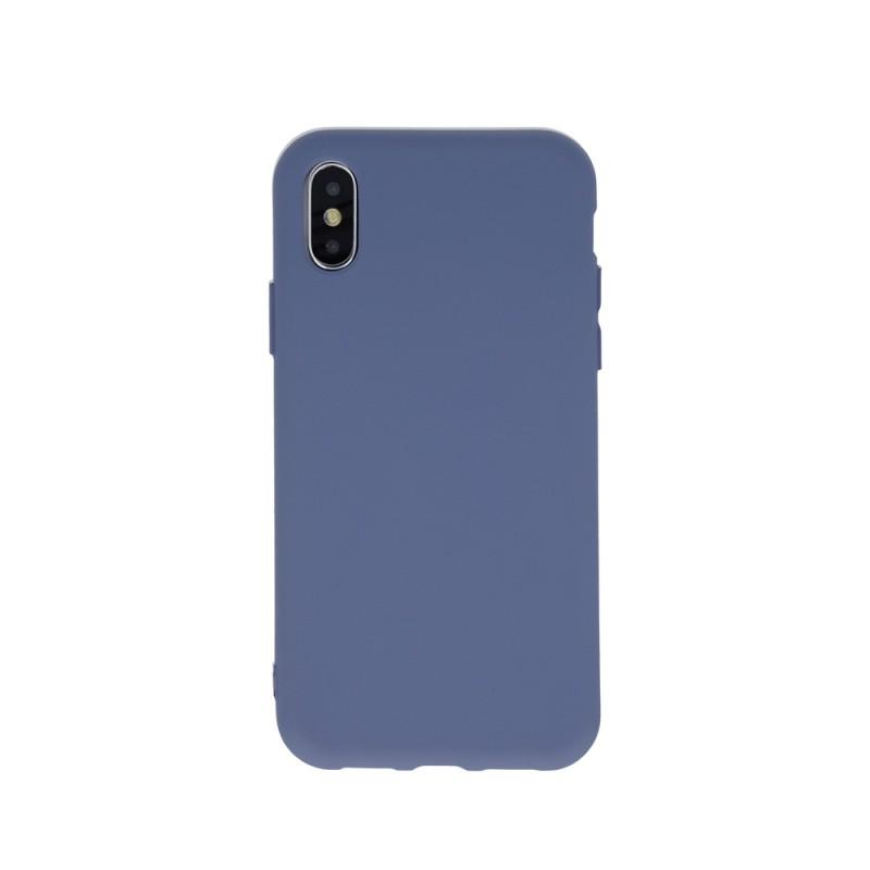 Husa Silicon Huawei P Smart (2019), interior din microfibra, Albastru Marengo  - 1