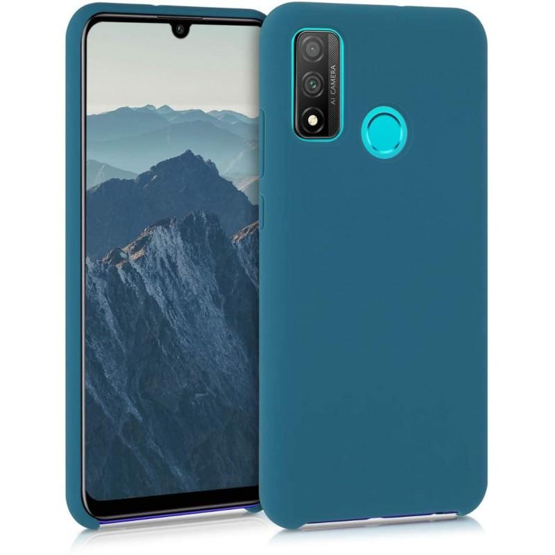 Husa Silicon Huawei P Smart (2020), interior din microfibra, Dark Blue  - 1