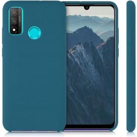 Husa Silicon Huawei P Smart (2020), interior din microfibra, Dark Blue  - 3