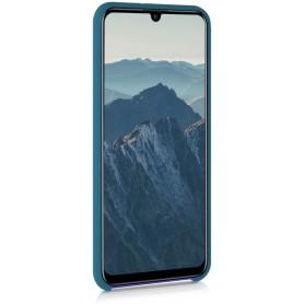 Husa Silicon Huawei P Smart (2020), interior din microfibra, Dark Blue  - 2
