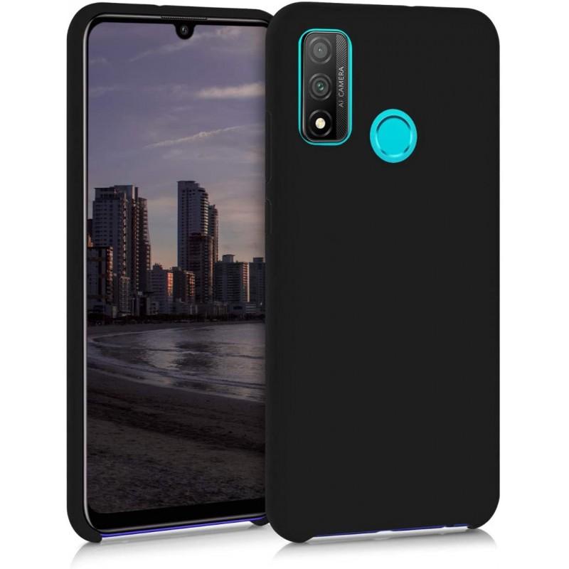 Husa Silicon Huawei P Smart (2020), interior din microfibra, Neagra  - 1
