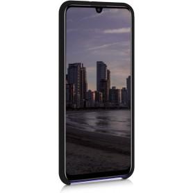Husa Silicon Huawei P Smart (2020), interior din microfibra, Neagra  - 2