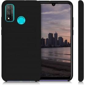 Husa Silicon Huawei P Smart (2020), interior din microfibra, Neagra  - 3