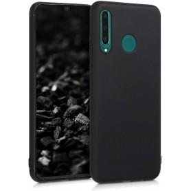 Husa Silicon pentru Huawei P40 Lite E / Huawei Y7P black, cu interior din microfibra, Neagra  - 1