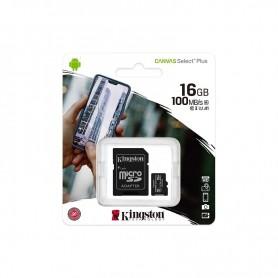 Card de memorie Kingston MicroSD, Canvas Select Plus, 16GB, Class 10 UHS-I, cu Adaptor  - 1