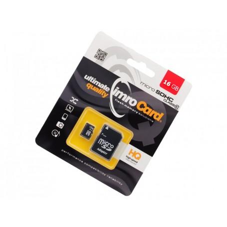 Card de memorie IMRO MicroSDHC 16GB class10 UHS-I cu Adaptor la pret imbatabile de 36,99lei , intra pe PrimeShop.ro.ro si convinge-te singur